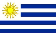 Flag of Uruguay Stock Photography