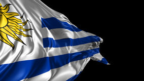 Flag of Uruguay. Beautiful   3d animation of Uruguay flag with alpha channel stock video footage