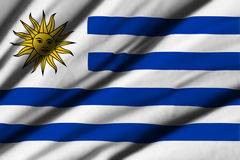 Flag of Uruguay Stock Photo
