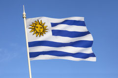 Flag of Uruguay - South America Royalty Free Stock Photos