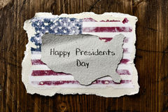 Flag of the US and text presidents day Royalty Free Stock Image