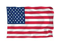 Flag of USA. USA. High resolution Flag series. With fabric texture Stock Photo