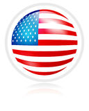 Flag of USA. In sphere form Royalty Free Stock Image