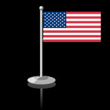 Flag the USA Royalty Free Stock Image