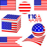 Flag USA. Royalty Free Stock Images