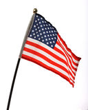 Flag of USA. Over white background Stock Photos