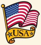 flag USA royaltyfri illustrationer