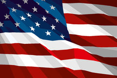 Flag of USA. The national flag of USA Royalty Free Stock Images