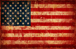 Flag of USA. Computer designed highly detailed grunge illustration - Flag of USA Stock Image