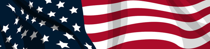 Flag USA. A vector stars and stripes banner Royalty Free Stock Image