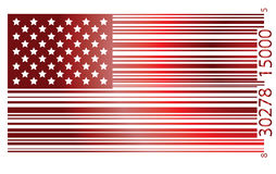 Flag USA. Usa flag whit bar code pattern vector illustration