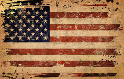 Flag of USA. Computer designed highly detailed grunge illustration - Flag of USA Royalty Free Stock Photos