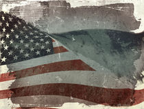 Flag of USA. Computer designed highly detailed grunge illustration - Flag of USA Royalty Free Stock Photography