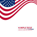 Flag Of USA. Wavy Grunge Flag Of USA Royalty Free Stock Photos