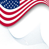 Flag Of USA. Wavy Grunge Flag Of USA Royalty Free Stock Image