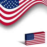 Flag Of USA Royalty Free Stock Photography