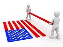 Flag of USA. Stock Image