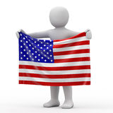 Flag of USA. Royalty Free Stock Photos