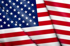 Flag of USA. This is an illustration of folded flag Stock Images