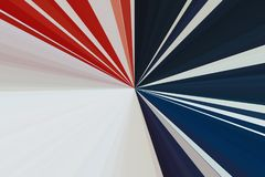 Flag of the USA. Abstract rays background. Stripes beam pattern. Stylish illustration modern trend colors. stock images