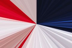 Flag of the USA. Abstract rays background. Stripes beam pattern. Stylish illustration modern trend colors. Stock Photography