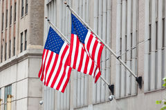 Flag of the USA (America) on Wall Street Royalty Free Stock Photos