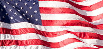 Flag of the USA (America) on Wall Street Royalty Free Stock Images