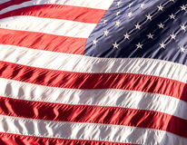 Flag of the USA (America) on Wall Street Royalty Free Stock Photo