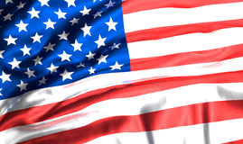 Flag of USA. American united states of america flag 3d rendering Stock Images