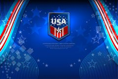 USA Flag Color Backgrounds Stock Images