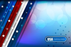 USA Flag Color Backgrounds Stock Image