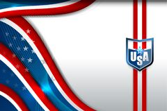USA Flag Color Backgrounds Royalty Free Stock Images