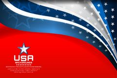 USA Flag Color Backgrounds Royalty Free Stock Photography