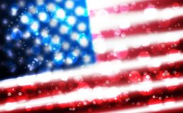 Flag of USA background for independence, veterans, memorial, martin luther king, presidents day and other events. Background of blurred flag of United States vector illustration