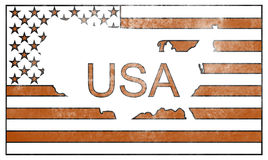 Flag USA in comic style Stock Photography