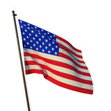 Flag of the USA. Flying flag of the USA Stock Photography