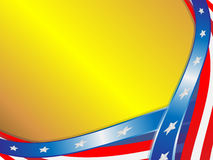 Flag USA on a gold background Stock Images