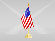 Flag of usa on grey bg. Flag of usa on grey background Royalty Free Stock Photography