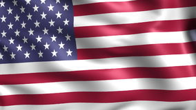 Flag of USA (loop) stock video