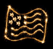 Flag of USA made of sparkles on black Stock Photography