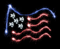 Flag of USA made of sparkles on black Royalty Free Stock Photo