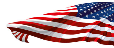 Flag of the USA. The national flag of the United States of America Royalty Free Stock Photography