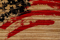 Flag USA painted on wood Royalty Free Stock Image
