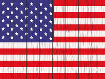 Flag of USA. Painted on a wooden wall Stock Photo