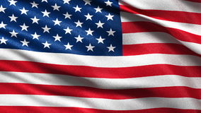 Flag of the USA seamless loop Stock Images