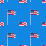 Flag of the USA seamless pattern Royalty Free Stock Photo
