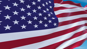 Flag of the USA slowly waving in the wind. detailed fabric texture. American Flag Slow Waving. Close up of America flag waving stock video
