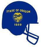 Oregon State Flag Football Helmet Stock Photo