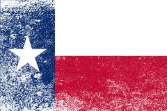 Texas State Flag Grunge. The flag of the USA state of TEXAS with dirty grunge effect Stock Images