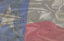 Dirty Texas State Silk Flag. The flag of the USA state of TEXAS Royalty Free Stock Photography